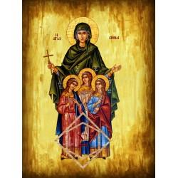 Αγία Σοφία & οι 3 θυγατέρες Πίστη, Ελπίδα & Αγάπη [ΘΕΜΑ Α5]